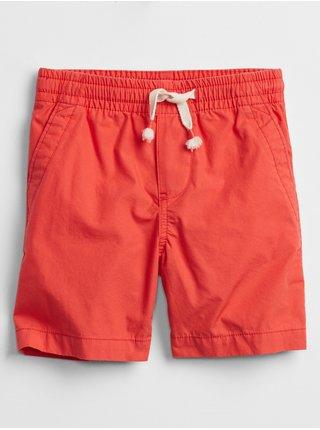Červené klučičí dětské kraťasy pull-on shorts with Washwell