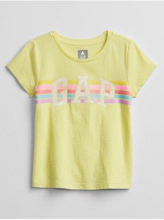 Žluté holčičí dětské tričko GAP Logo t-shirt