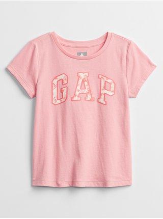 Růžové holčičí dětské tričko GAP Logo t-shirt