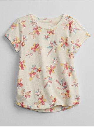 Béžové holčičí dětské tričko print graphic t-shirt