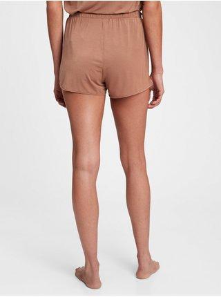 Hnědé dámské pyžamo vé kraťasy GAP adult truesleep tulip pj shorts in tencel modal
