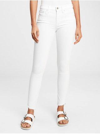 Bílé dámské džíny GAP mid rise true skinny jeans