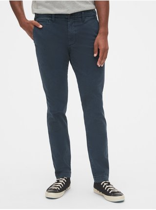 Modré pánské kalhoty vintage khakis in skinny fit with GapFlex