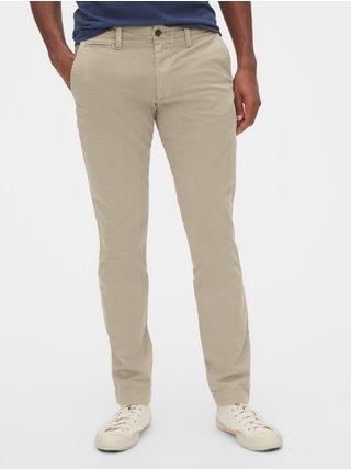Béžové pánské kalhoty vintage khakis in skinny fit with GapFlex