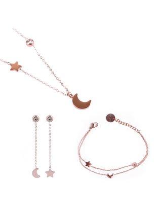 Sada šperků v růžovozlaté barvě Vuch Trio of infinity Rose gold