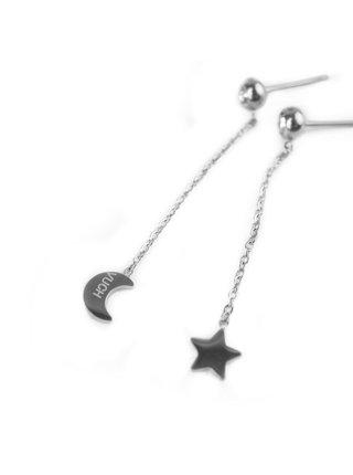 Naušnice ve stříbrné barvě Infinity Silver