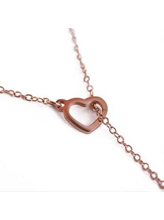 Náhrdelník v růžovozlaté barvě se srdíčkem Vuch-Sweet heart Rose gold