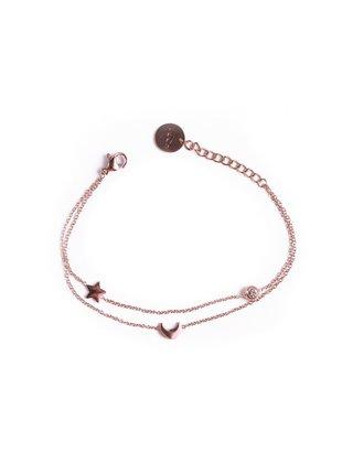 Dámský náramek v růžovozlaté barvě Vuch- Infinity Rose gold