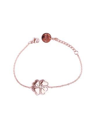 Dámský růžovozlatý náramek se čtyřlístkem Vuch-Cheery