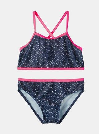 Tmavě modré holčičí vzorované dvoudílné plavky name it Felisia