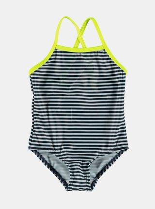 Bílo-modré holčičí pruhované jednodílné plavky name it Felisia