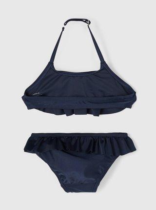 Tmavě modré holčičí dvoudílné plavky s volány name it Fini