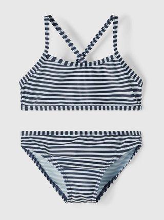 Bílo-modré holčičí pruhované dvoudílné plavky name it Felisia