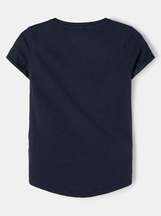 Tmavě modré holčičí tričko s potiskem name it Vix