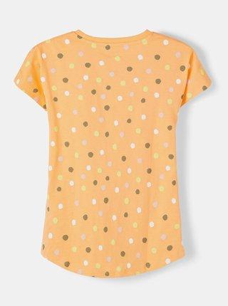 Oranžové holčičí puntíkované tričko name it Vigga