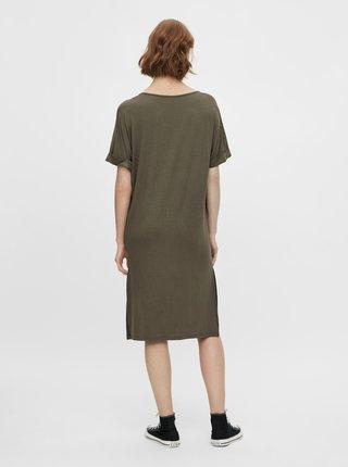 Voľnočasové šaty pre ženy Pieces - kaki