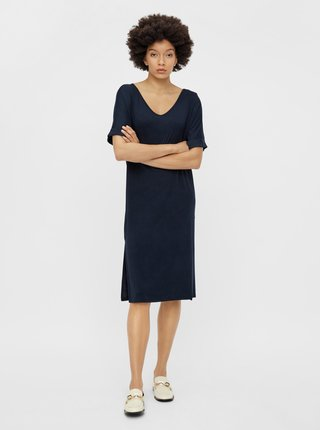 Voľnočasové šaty pre ženy Pieces - tmavomodrá