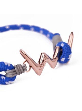 Modrý dámský lankový náramek s růžovozlatým logem Vuch- Alisia Rose Gold