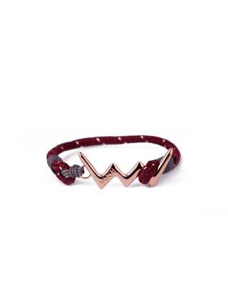 Červený dámský lankový náramek s růžovozlatám logem Vuch- Mariana Rose Gold