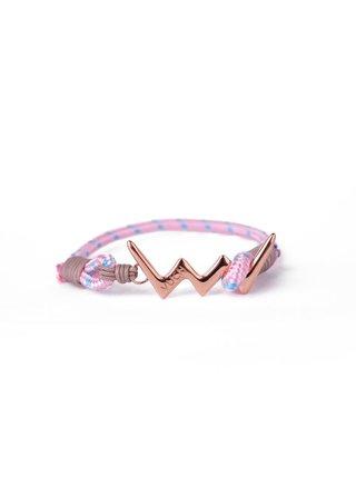 Růžový dámský lankový náramek s růžovozlatým logem Vuch- Rose Gold