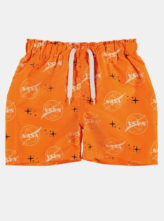 Oranžové klučičí vzorované plavky name it Nasa