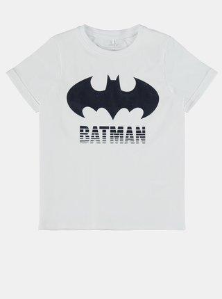 Bílé klučičí tričko s potiskem name it Batman