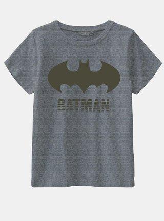 Šedé klučičí tričko s potiskem name it Batman