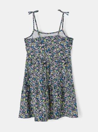 Modré holčičí květované šaty na ramínka name it Zoey