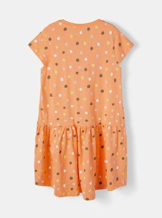 Oranžové holčičí puntíkované šaty name it Vigga