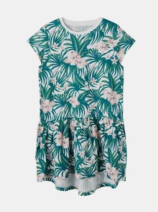 Zelené holčičí vzorované šaty name it Vigga