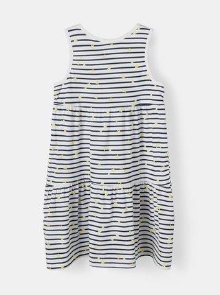 Bílé holčičí pruhované šaty name it Vigga