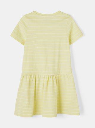 Žluté holčičí pruhované šaty name it Vamaja