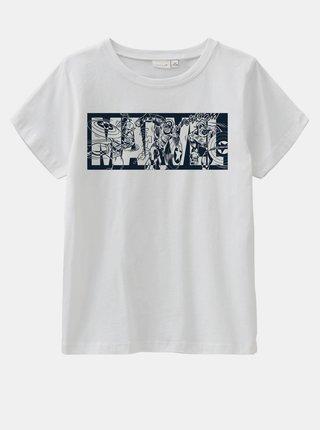 Bílé klučičí tričko s potiskem name it Marvel