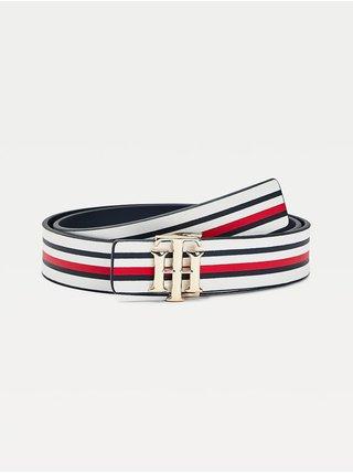 Tommy Hilfiger bílé oboustranný pásek TH Logo Rev 3.0 White/Corp