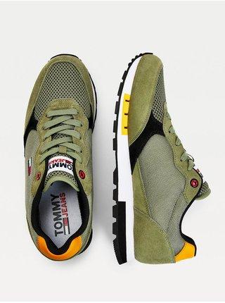 Khaki pánské tenisky Tommy Hilfiger Retro Runner Mix