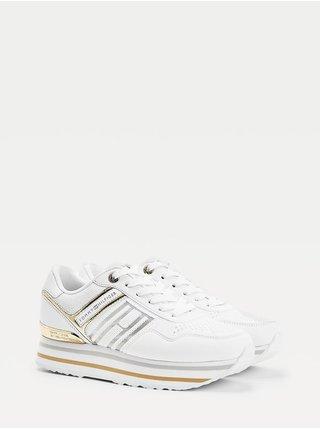 Tommy Hilfiger bílé tenisky na platformě Knitted Flatform Sneaker