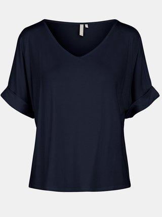 Tmavě modré volné tričko Pieces Neora