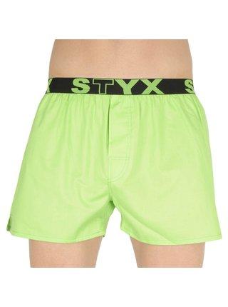 Pánské trenky Styx sportovní guma zelené