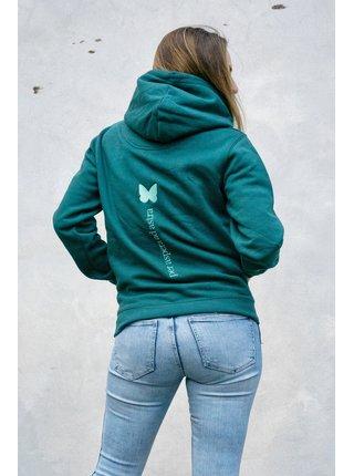 Simpo lahvově zelená unisex mikina FreeTime