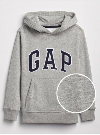 Šedá klučičí dětská mikina GAP Logo hoodie