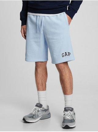 Modré pánské kraťasy GAP Logo 9 shorts in fleece