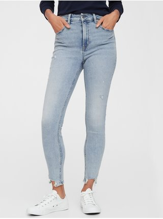 Modré dámské džíny GAP high stretch hig rise universal legging