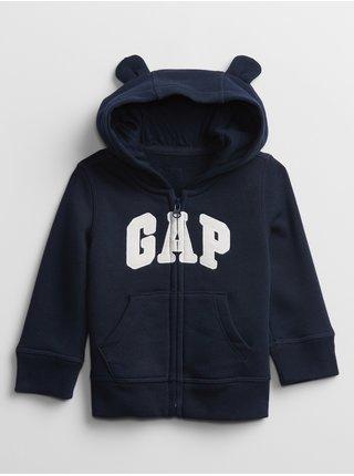 Modrá klučičí baby mikina GAP Logo hoodie sweatshirt