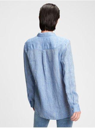 Modrá dámská košile GAP linen boyfriend shirt