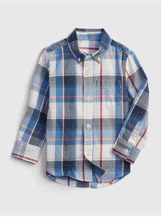 Modrá klučičí dětská košile print poplin shirt