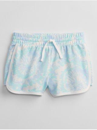 Modré holčičí dětské kraťasy graphic pull-on shorts