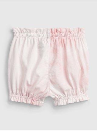 Růžové holčičí baby kraťasy 100% organic cotton mix and match pull-on shorts