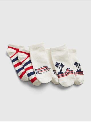 Barevné klučičí dětské ponožky GAP ankle graphic, 3ks