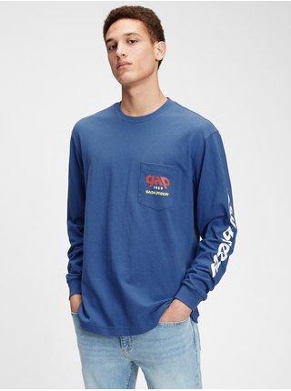 Modré pánské tričko GAP Logo t-shirt