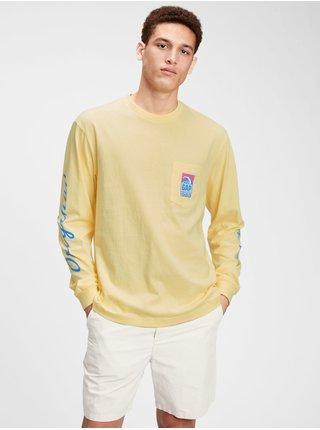 Žluté pánské tričko GAP Logo t-shirt